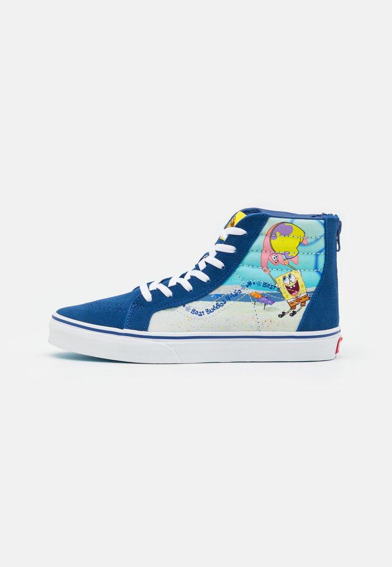 Vans - JN VANS X SPONGEBOB SK8-HI ZIP UNISEX - Höga sneakers - dark blue/multicolor