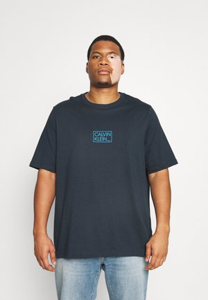CHEST BOX LOGO  - Print T-shirt - navy