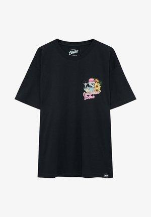 CALIFORNIA - T-shirt z nadrukiem - black