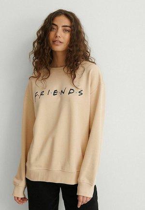 Sweatshirt - beige friends