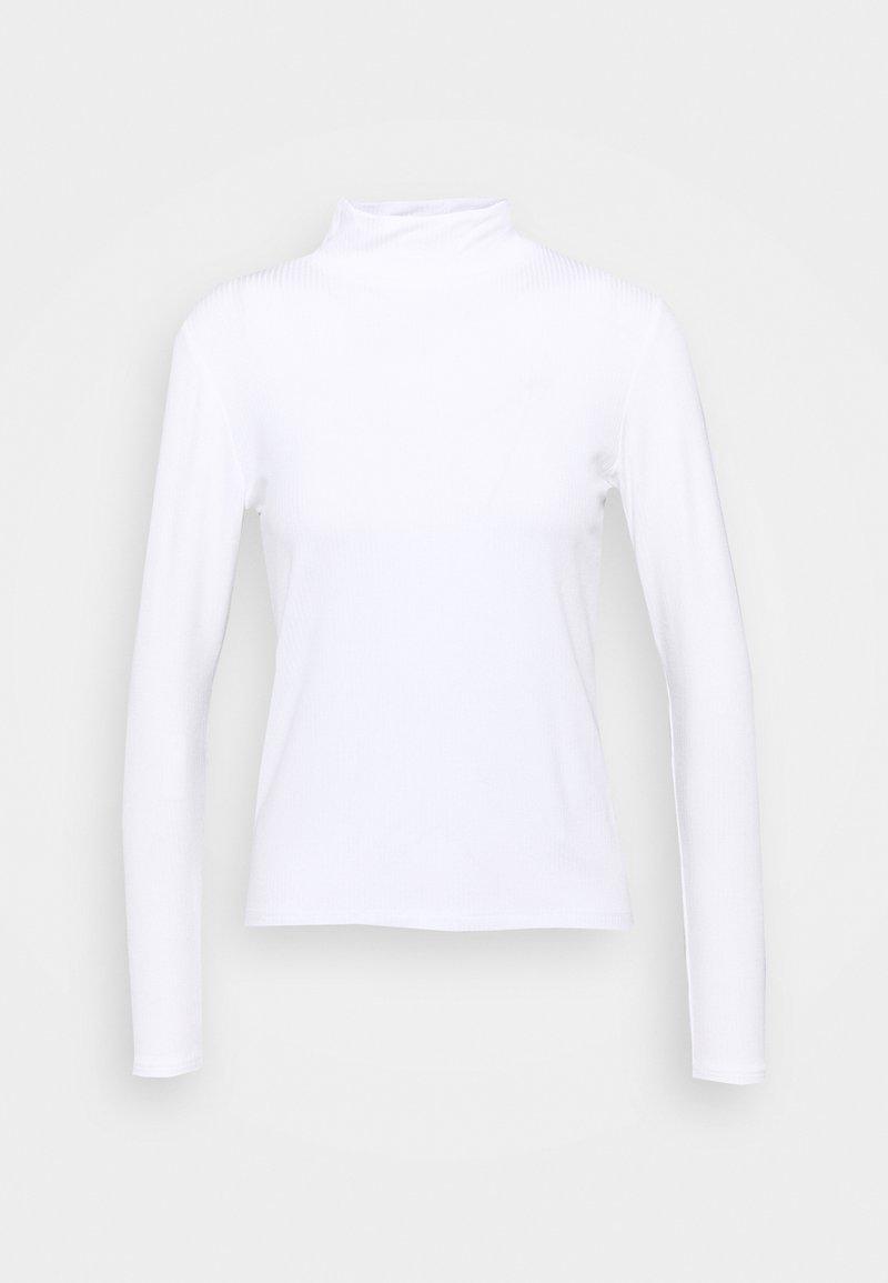 Abercrombie & Fitch - LONGSLEEVE SLIM MOCKNECK TEE - Long sleeved top - white