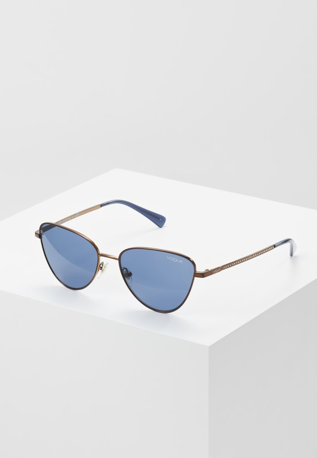Sunglasses - copper/dark blue
