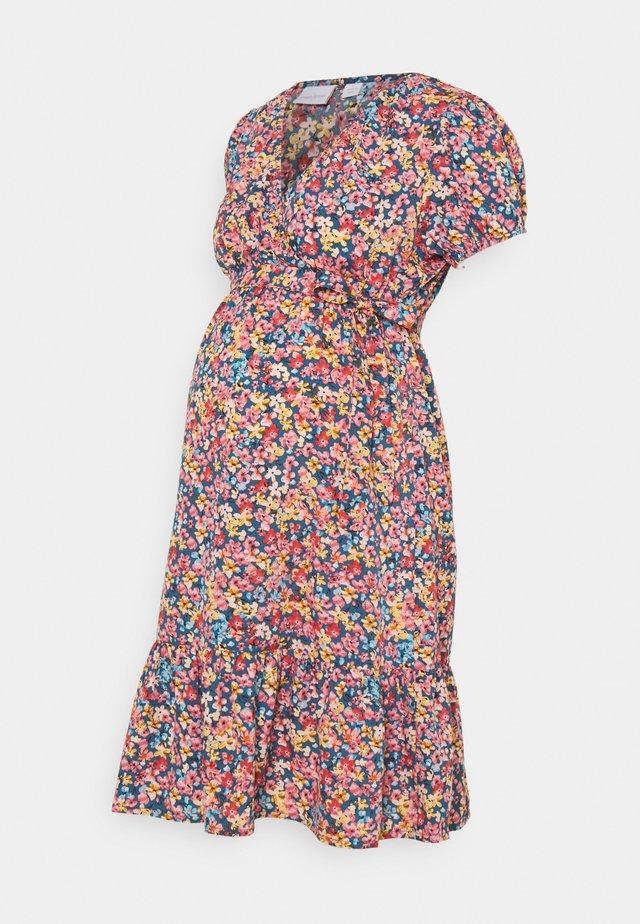 MLTENNA TESS DRESS - Denní šaty - blue/pink/orange