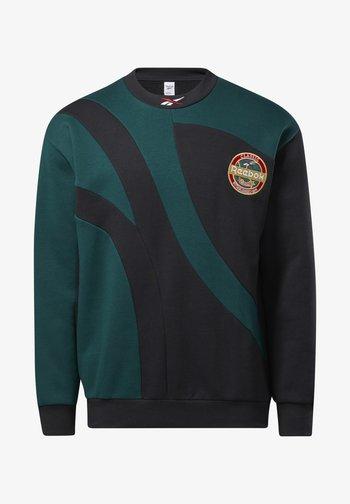 VINTAGE PACK CASUAL SWEATSHIRT - Sweatshirt - black/green