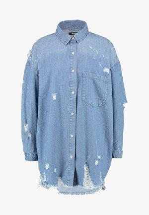 SUPER DISTRESS DRESS - Denim dress - blue