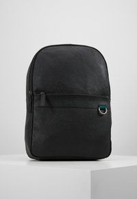 Pier One - LEATHER - Rucksack - black - 0