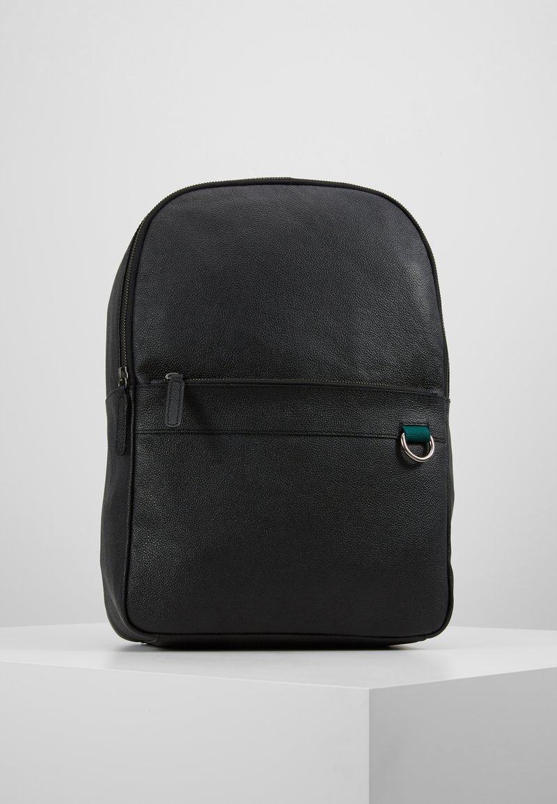 Pier One - LEATHER - Rucksack - black