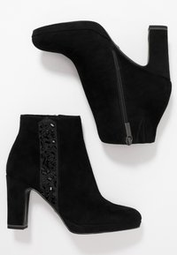 Tamaris - High heeled ankle boots - black - 3