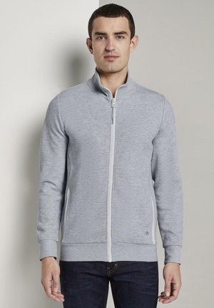 MIT STEHKRAGEN - Zip-up hoodie - light stone grey melange