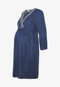 Balloon - DRESS WITH WRAP NECKLINE - Žerzejové šaty - blue - 5