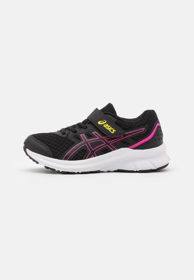 JOLT 3 UNISEX - Neutral running shoes - black/hot pink