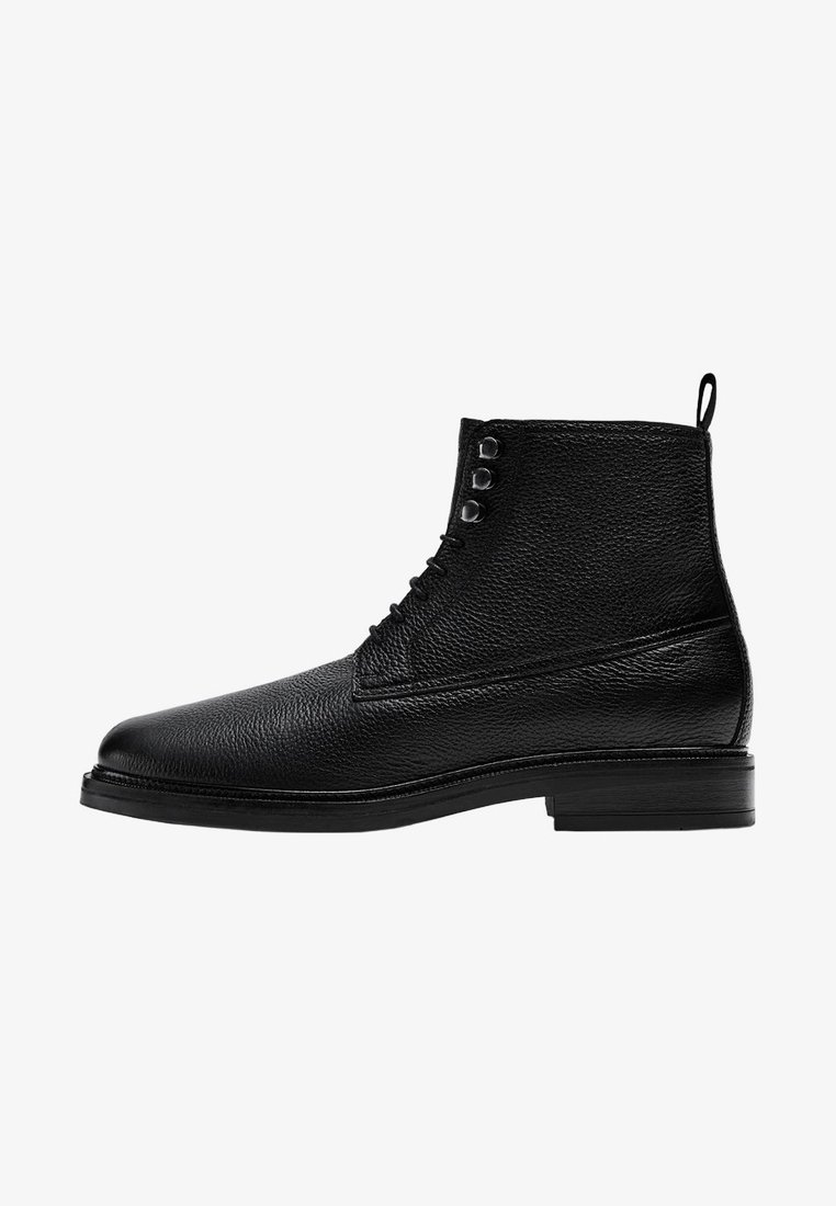 Massimo Dutti - Lace-up boots - black
