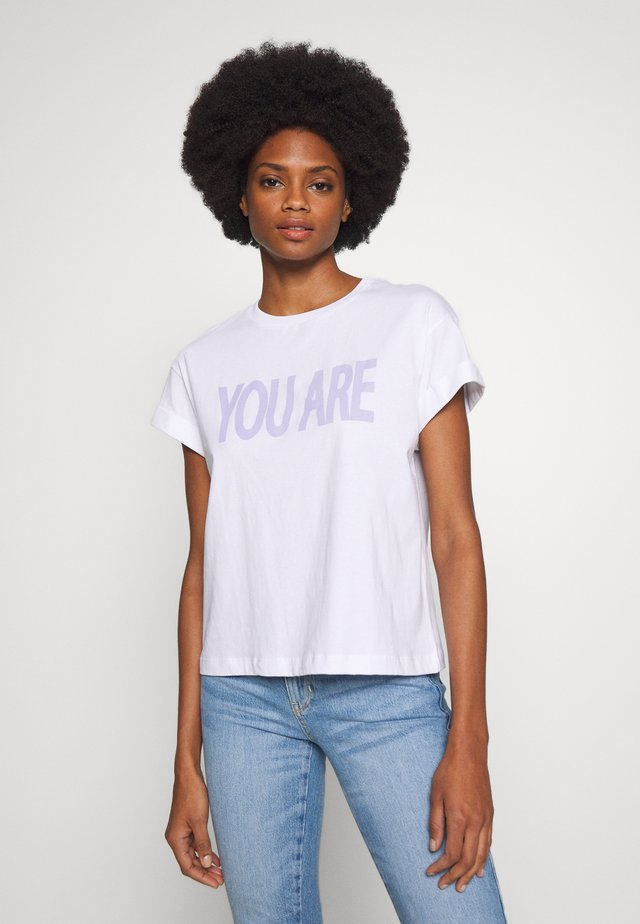 WITH YOU ARE MINE PRINT - T-shirt imprimé - white