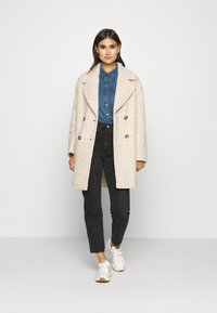 Marc O'Polo - COAT CURLY LOOSE FIT WIDE REVERS - Cappotto classico - alpaca melange - 1