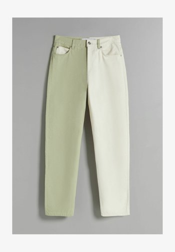 ZWEIFARBIGE IM - Straight leg jeans - khaki
