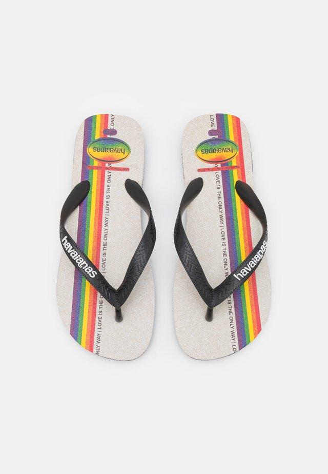 TOP PRIDE UNISEX - Sandály s odděleným palcem - black