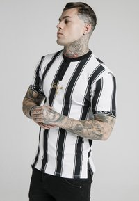 SIKSILK - T-shirt con stampa - black  white - 0