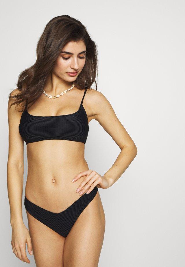 SCOOP CROP BRALETTE SET - Bikinit - black