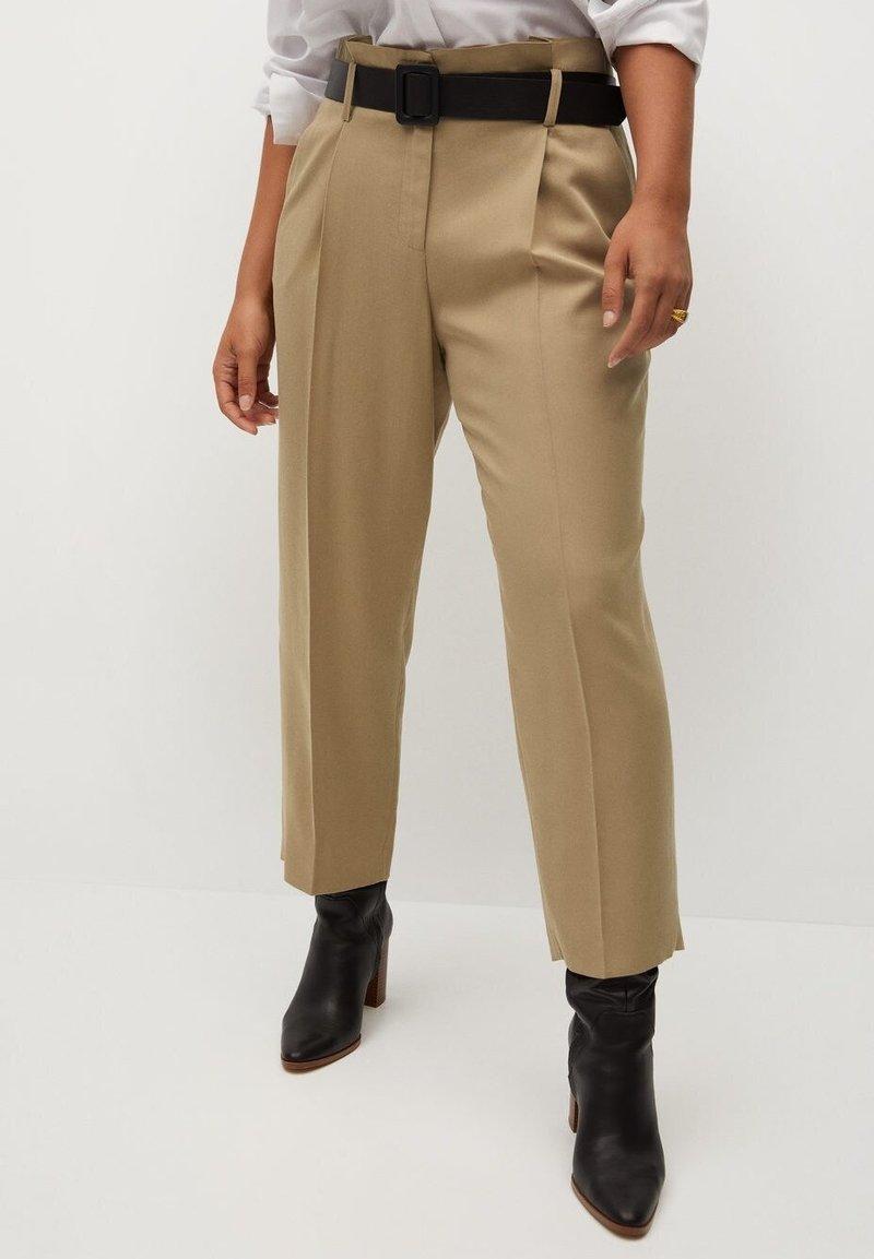 Violeta by Mango - FAST - Trousers - beige