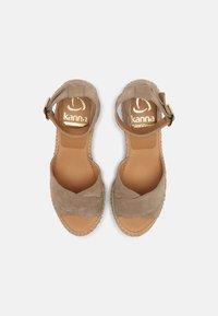 Kanna - CAPRI - Korkeakorkoiset sandaalit - platon/grau - 5