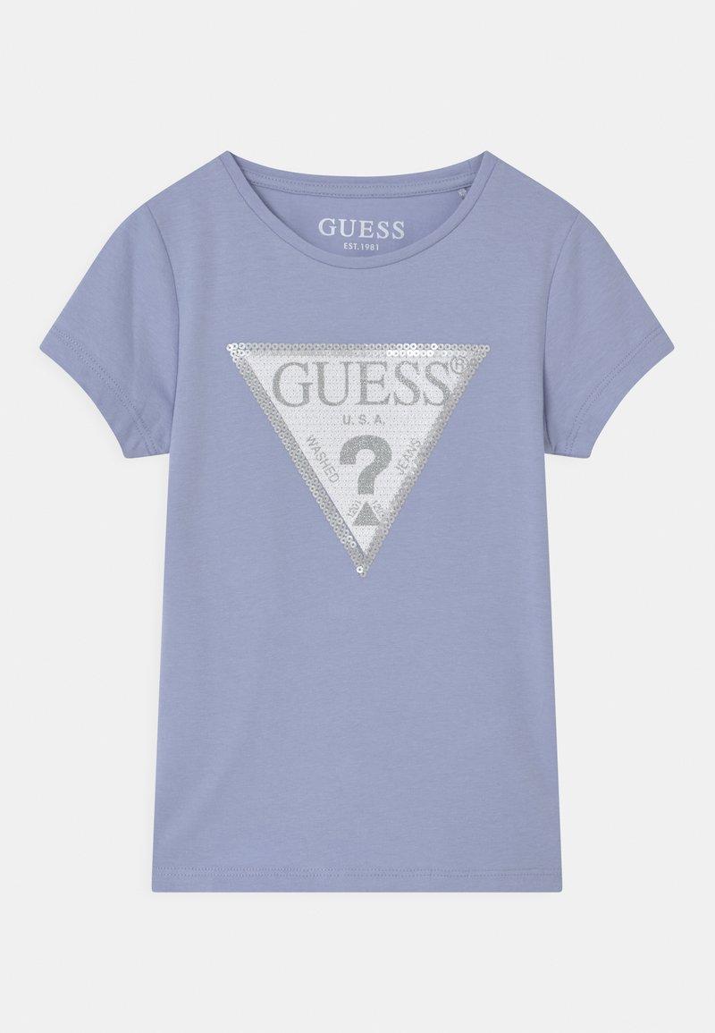 Guess - TODDLER  - T-shirt z nadrukiem - confidential blue