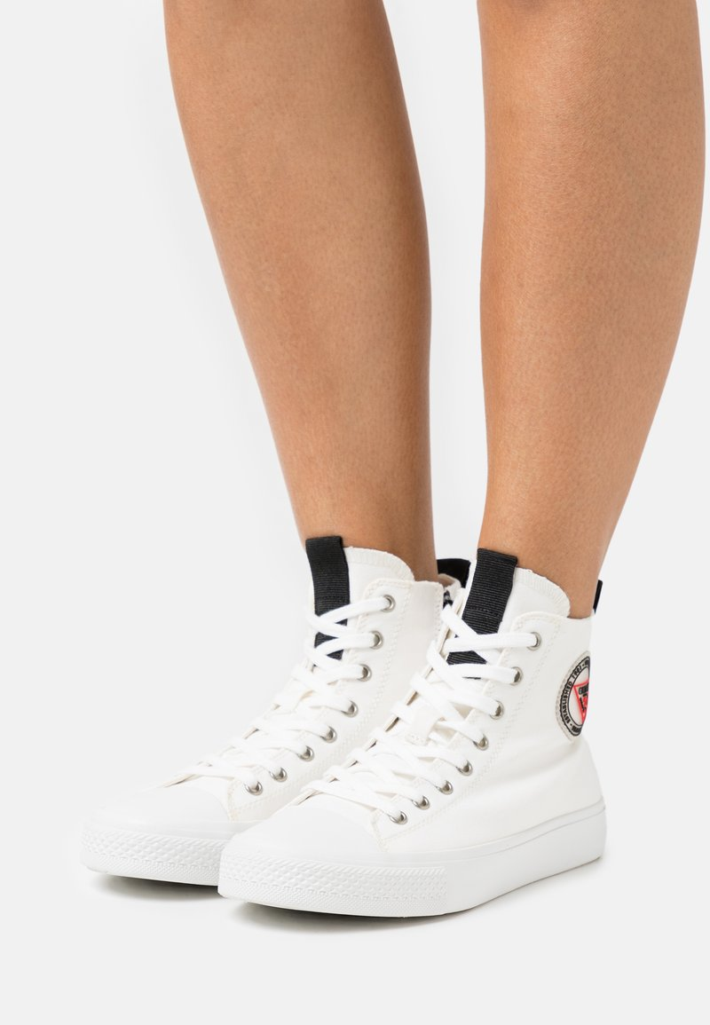 Guess - EDERLA - High-top trainers - offwhite