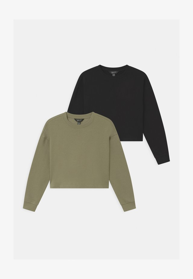 PLAIN 2 PACK - Sweatshirt - black/khaki