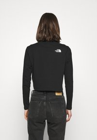 The North Face - CROP TEE - Long sleeved top - black - 2