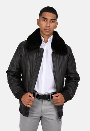 DADDY - Leather jacket - dark brown