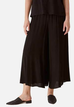 CROPPED AUS MAROCAIN - Trousers - nero