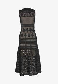 MRZ - SEETHROUGH DRESS - Pletené šaty - black - 3