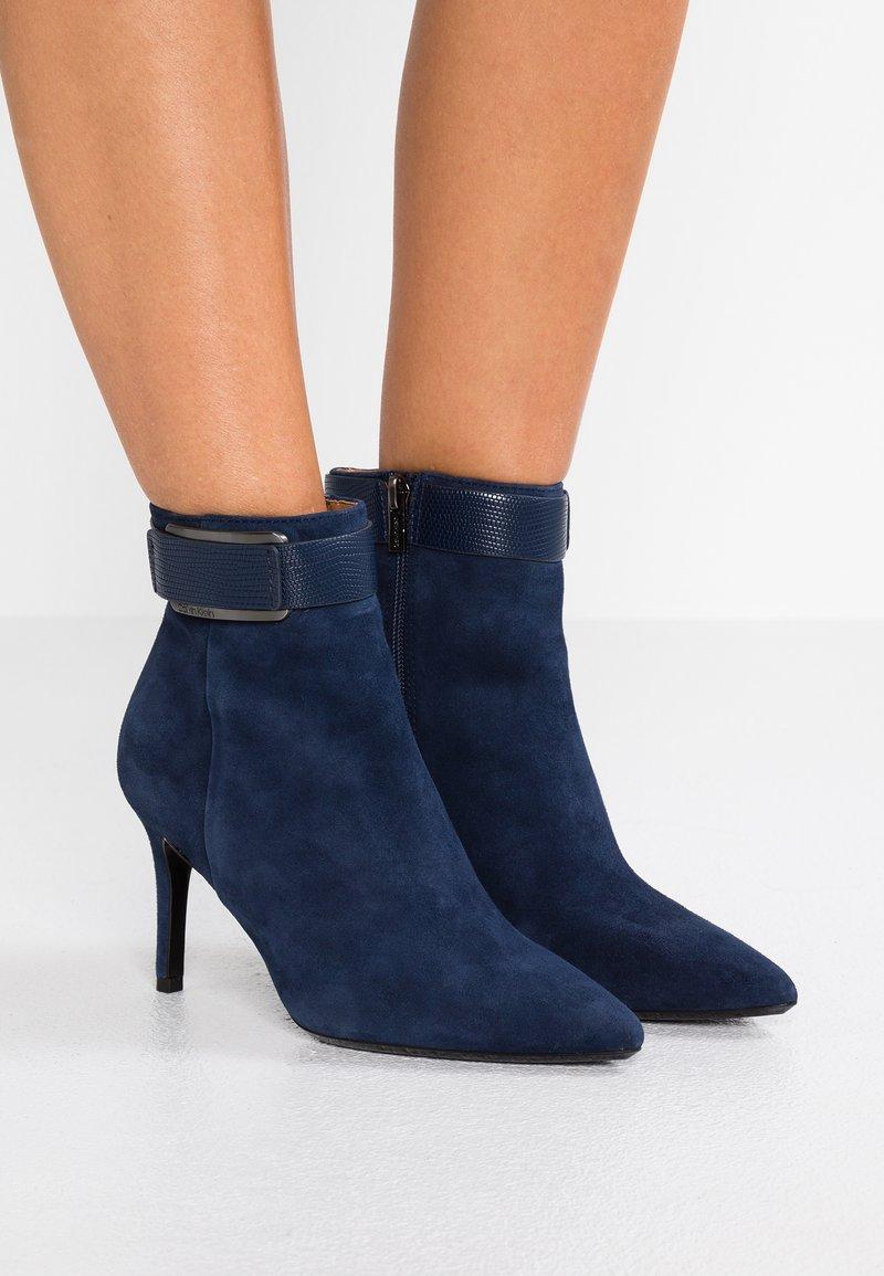 Calvin Klein - GITAR - High heeled ankle boots - dark navy