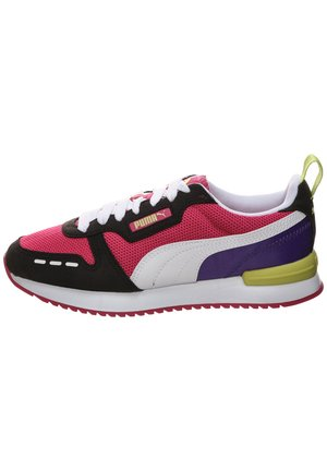 R78 UNISEX - Matalavartiset tennarit - beetroot purple / puma black / puma white
