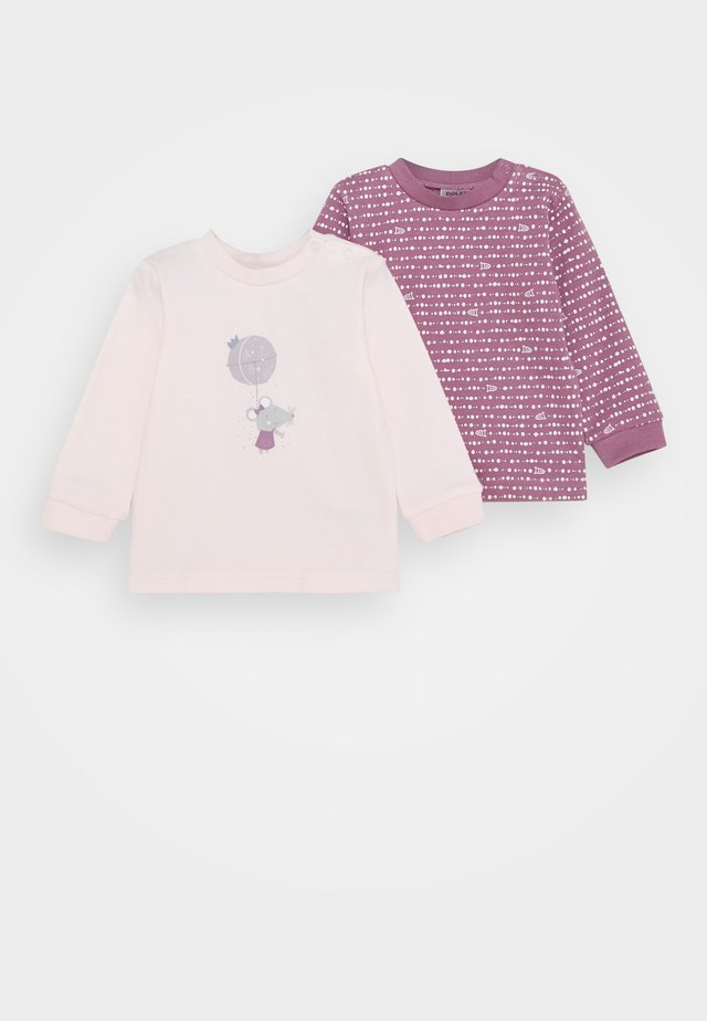 2 PACK - Long sleeved top - light pink/berry