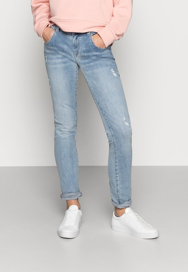 LINDY - Jeans slim fit - mid brushed glam