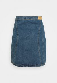 ONLY - ONLRUBY LIFE PANEL - Mini skirt - medium blue denim - 1