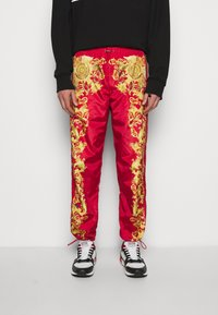 Versace Jeans Couture - PRINT BAROQUE - Tracksuit bottoms - red - 0