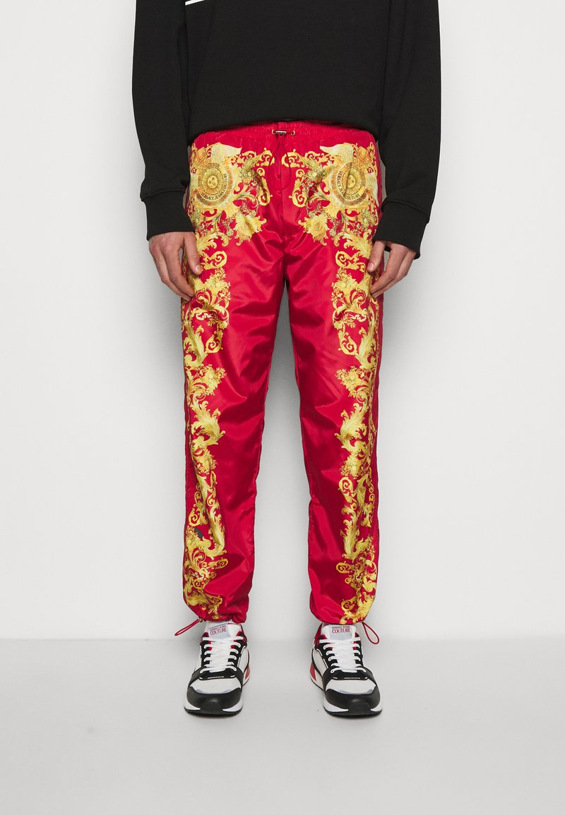 Versace Jeans Couture - PRINT BAROQUE - Tracksuit bottoms - red