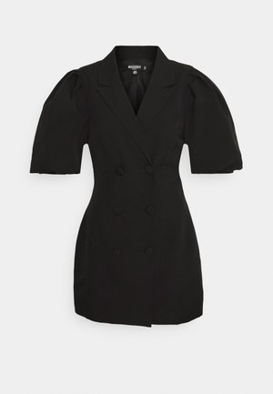 PUFF BLAZER DRESS - Vestido de cóctel - black