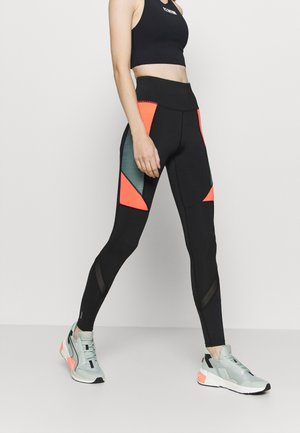 ONPALANI TRAINING - Tights - black/goblin blue/fiery coral