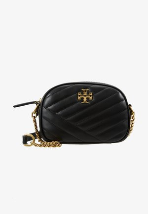 KIRA CHEVRON SMALL CAMERA BAG - Sac bandoulière - black/gold