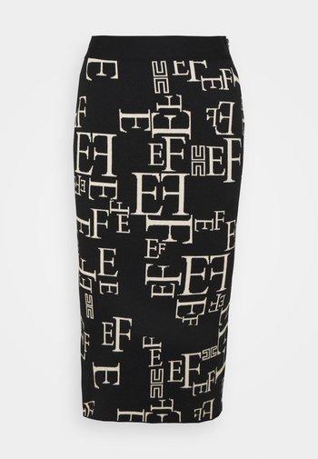 A-line skirt - nero/burro