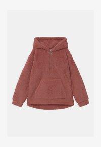 Lindex - TEEN PILE HOODIE PEACH - Fleece trui - dark dusty pink - 0