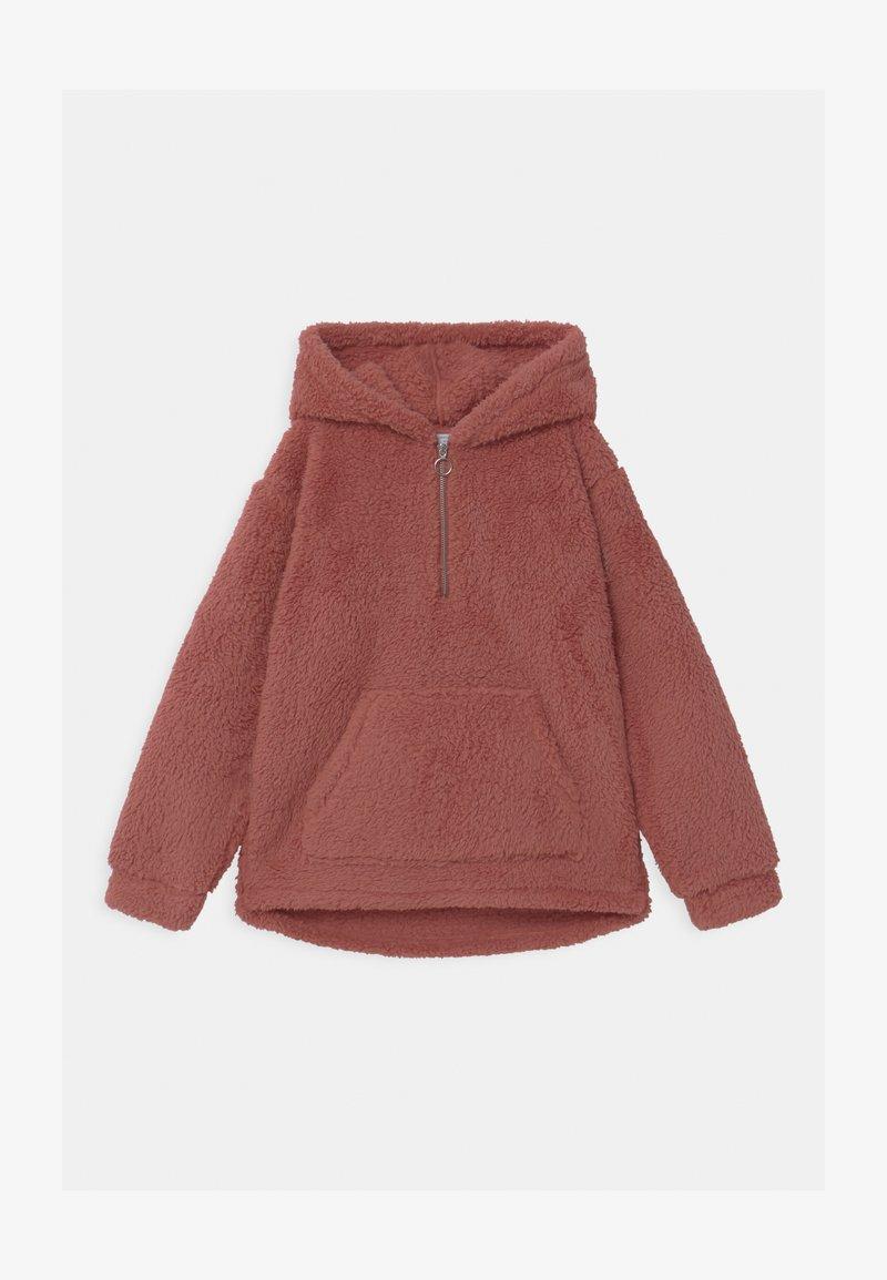 Lindex - TEEN PILE HOODIE PEACH - Fleece trui - dark dusty pink