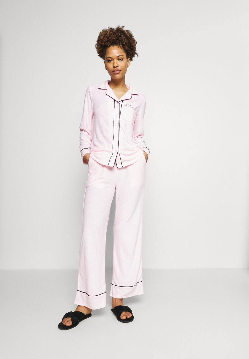 Missguided - TOWEL SHIRT LONG - Pyjamas - pink