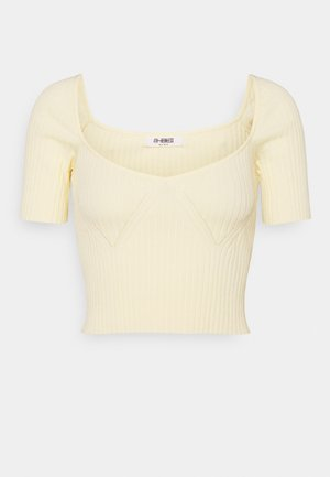 AUBREY TOP - Jednoduché triko - cream