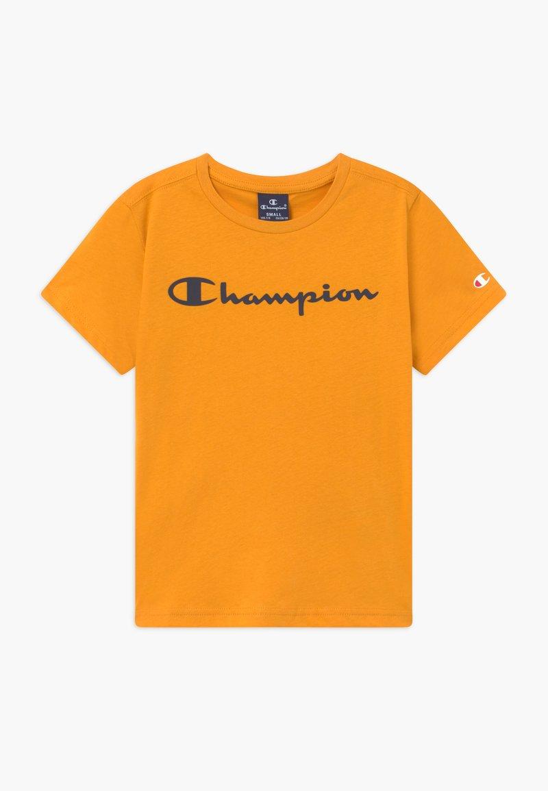 Champion - LEGACY AMERICAN CLASSICS CREWNECK - Print T-shirt - yellow