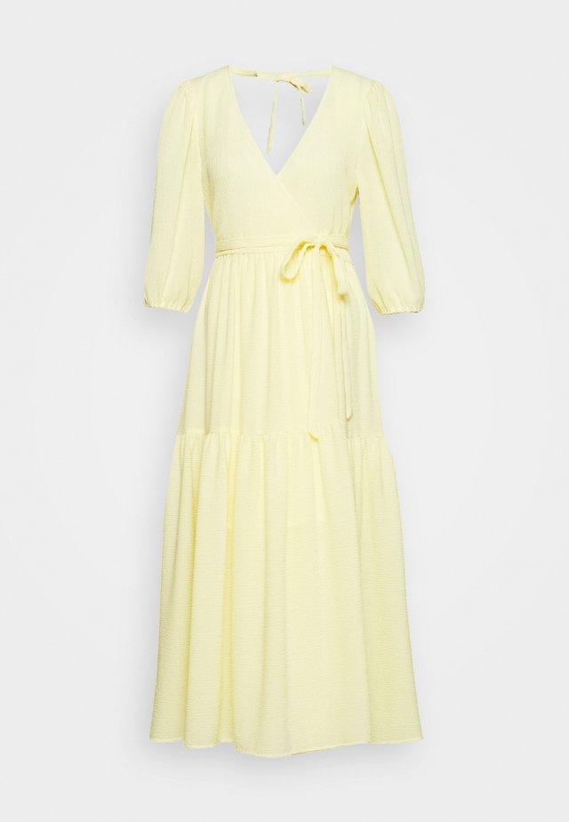 SARA DRESS - Robe d'été - light yellow