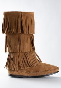 Minnetonka - 3 LAYER FRINGE - Cowboy-/Bikerlaarzen - light brown - 4