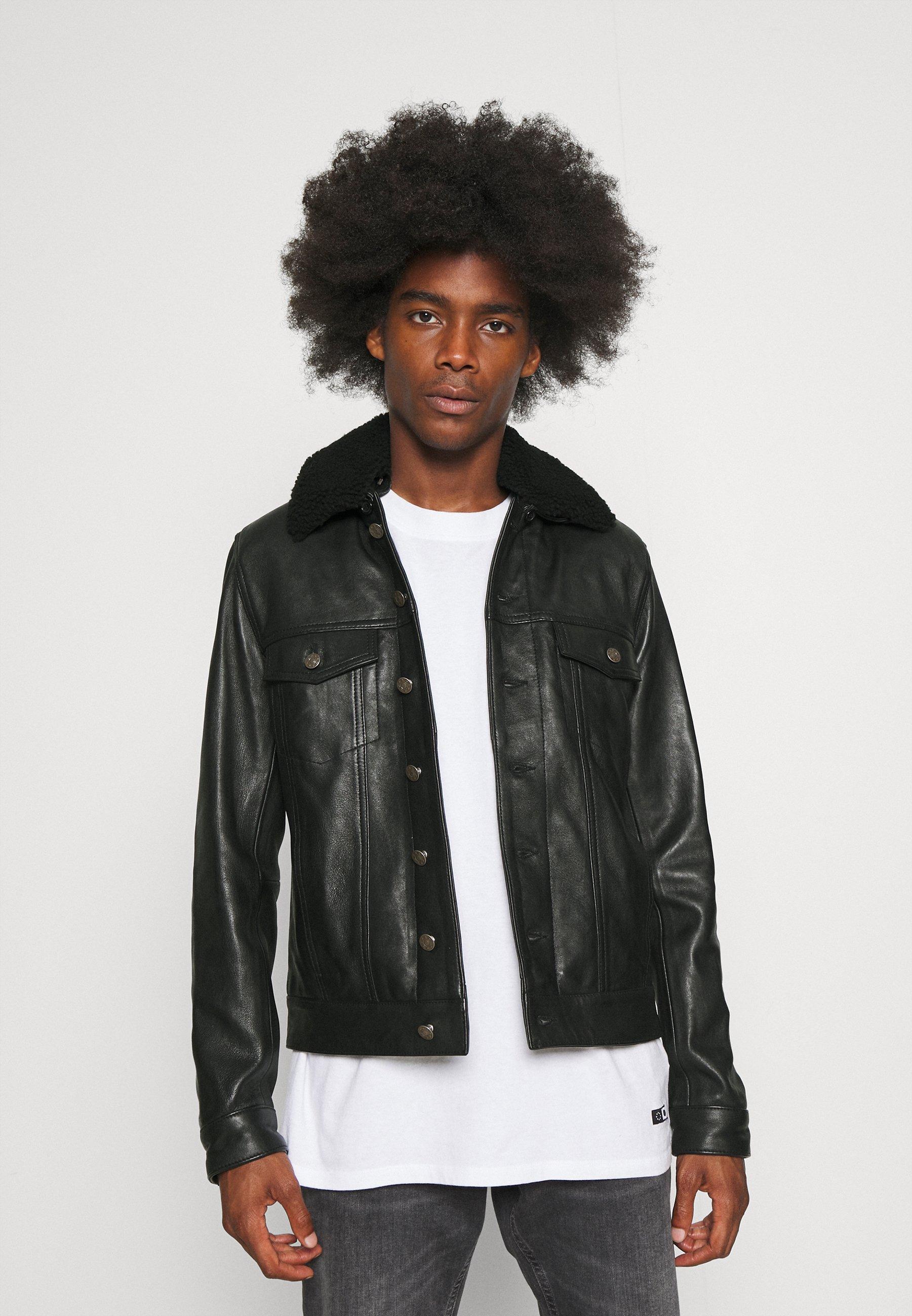 Men ELIAS - Leather jacket